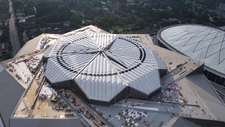 Mercedes-Benz Stadium Roof