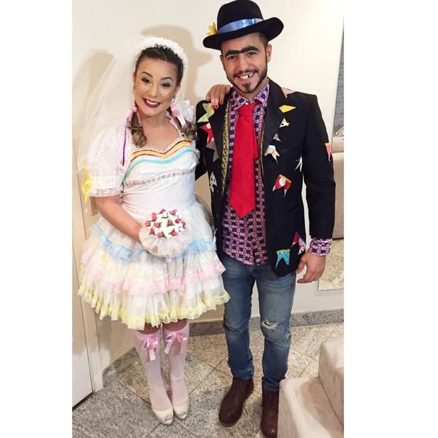 Fantasia Festa Junina, vestido noiva Maria Claudia