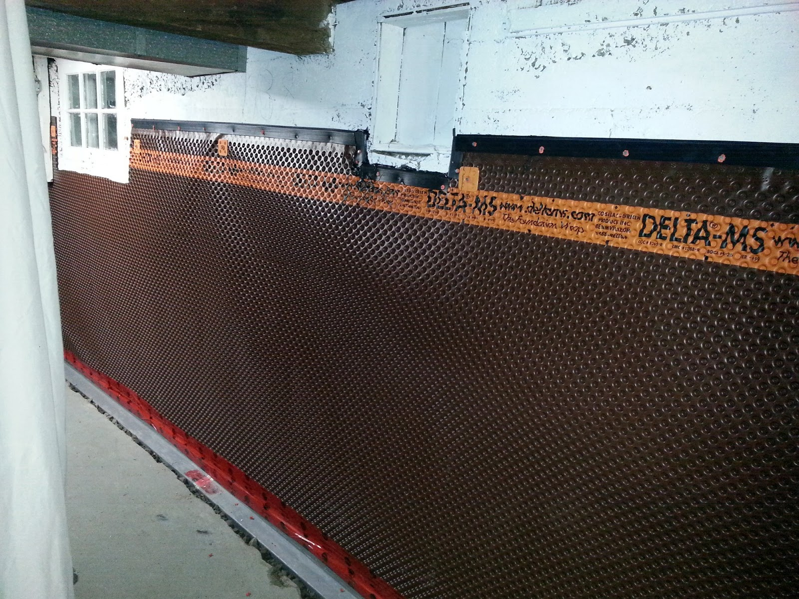 Fresh Dimpled Membrane for Basement Walls