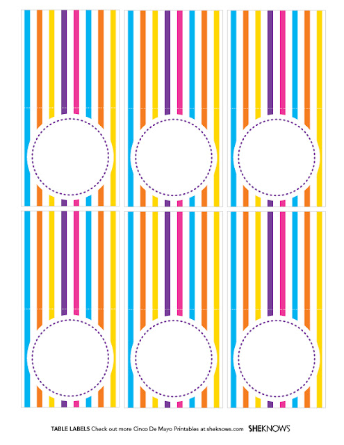 Etiquetas para Fiesta del 5 de Mayo para imprimir gratis.