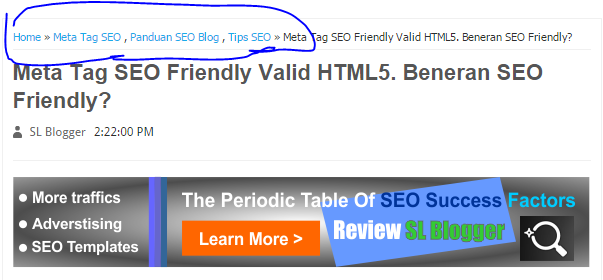 How to Install the Breadcrumbs SEO Friendly Blog-Valid HTML5