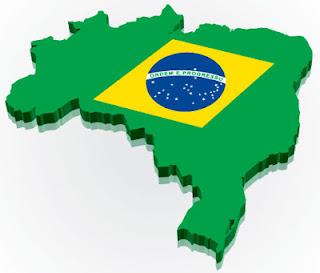Mapa e Bandeira do Brasil