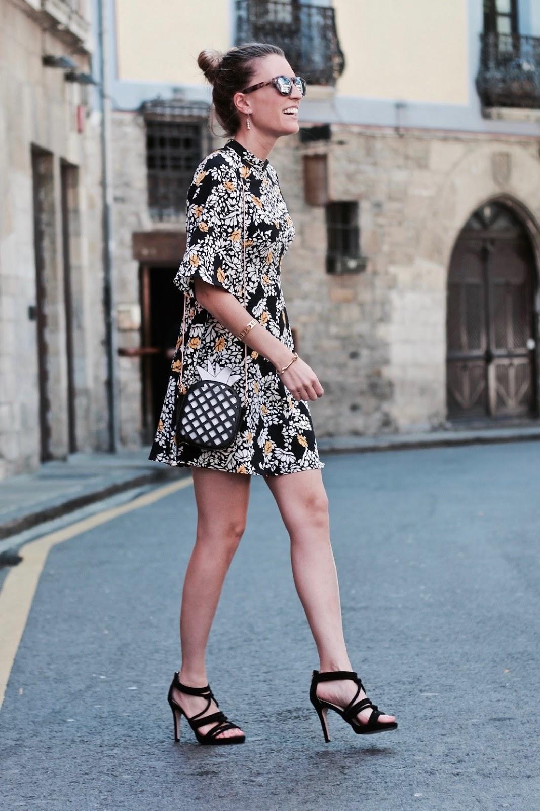 vestido estampado oriental