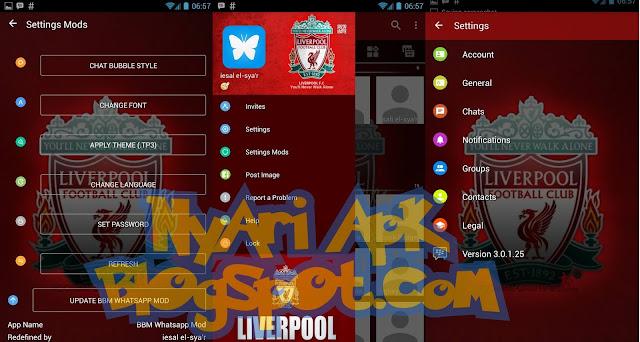 Download BBM Mod Liverpool Versi 3.0.1.25 Apk Terbaru for Android