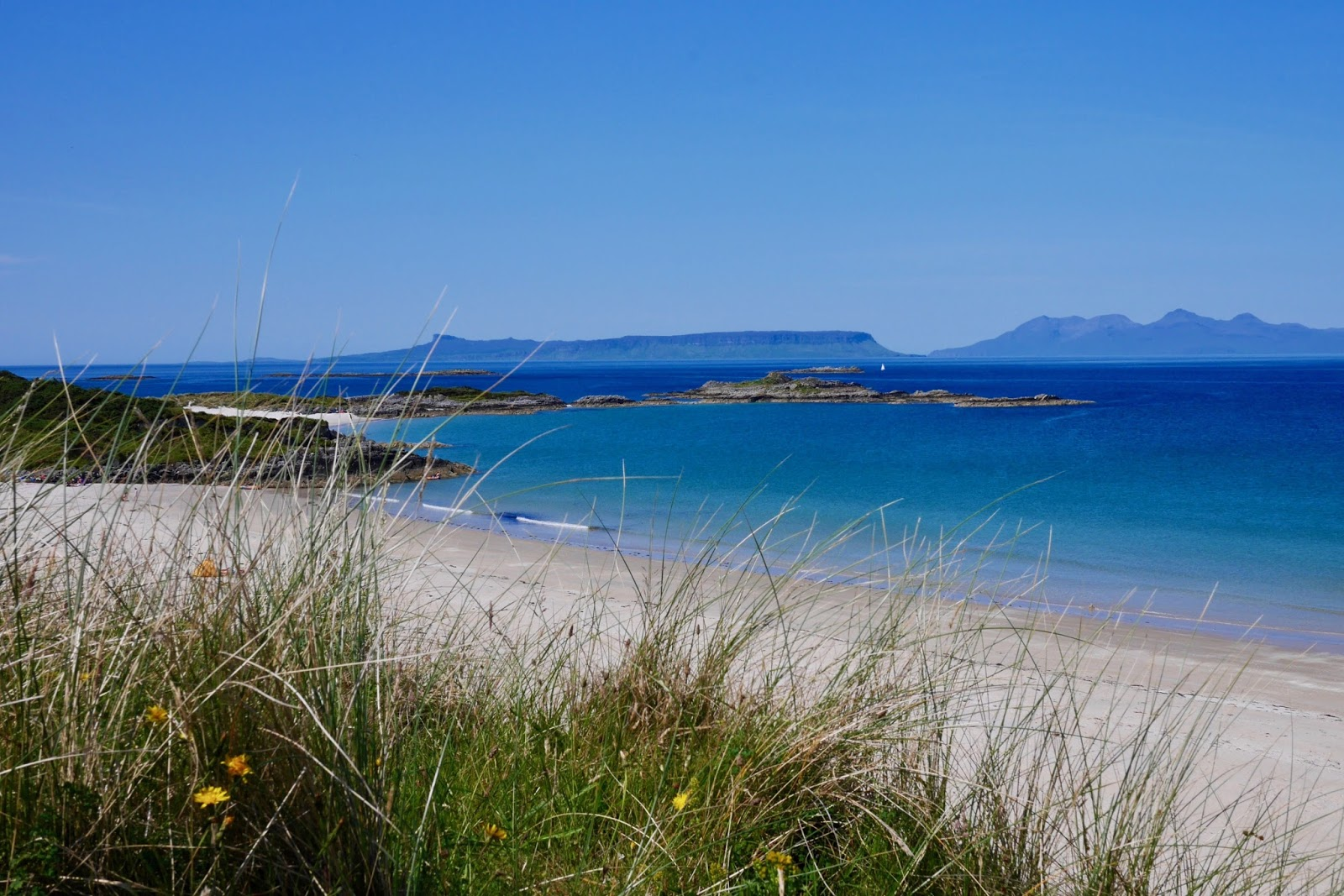 White sandy beaches of Scotland, www.CalMCTravels.com, The best campsites in Scotland