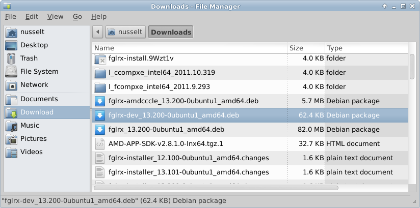 Install AMD/ATI Catalyst Drivers in XFCE4 | Diffusion: Technology