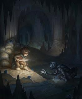 Bilbo conoce a Gollum