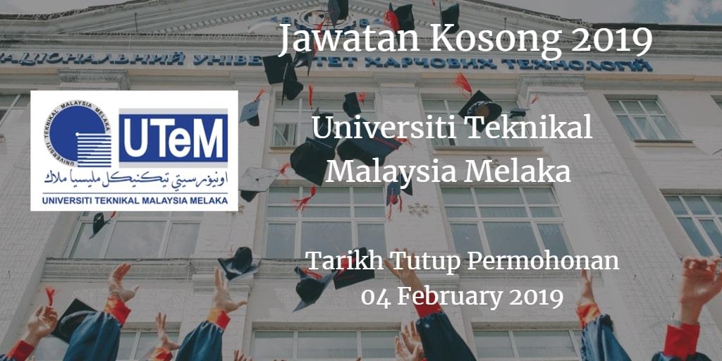 Jawatan Kosong UTeM 04 February 2019