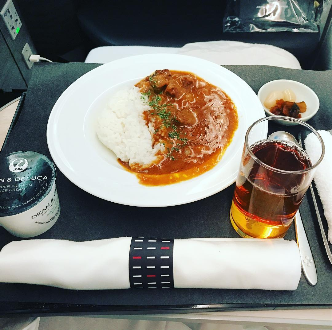 機内食:2017年10月 / 日本航空・JAL771(JL771) / 東京・成田=オーストラリア・シドニー / ビジネスクラス
