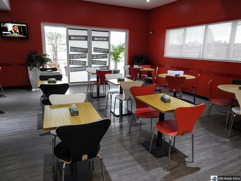 Espaço do Café da manhã do Ibis - Onde ficar em Criciúma