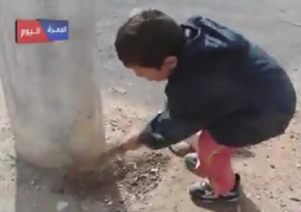 Bocah Suriah gali kubur Bashar Assad