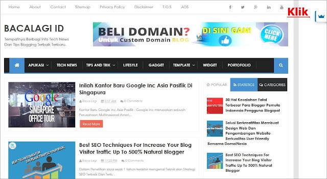 Homepage Bacalagi.id