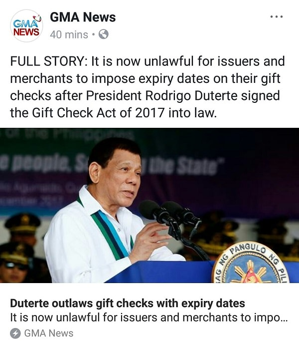 What Does the PH Gift Check Act of 2017 Means to Bloggers