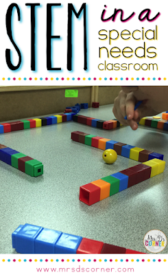 How to modify STEM activities and implement them in a special needs classroom. STEM activities for special education.