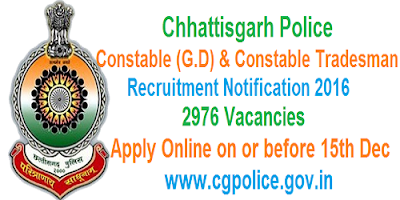 CG Police Constable Recruitment 2016