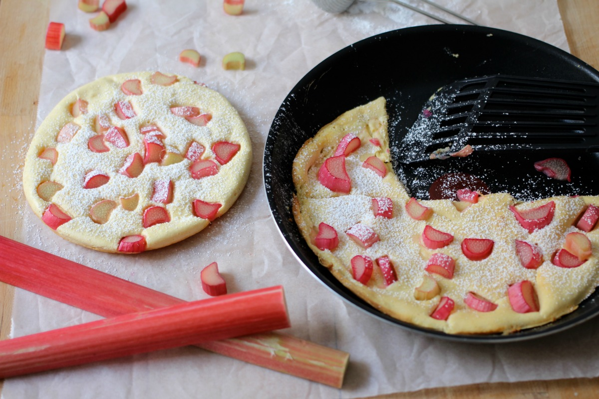 Rhabarber Pfannkuchen
