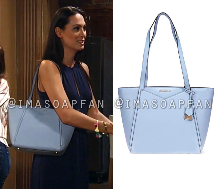 1ec855430f7797 Terry Randolph s Light Blue Leather Tote Bag - General Hospital ...