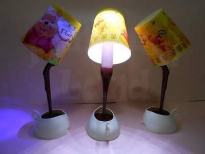 Lampu Unik Kopi Tumpah LED