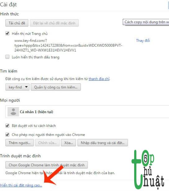 cách copy nội dung trên trang web không cho copy