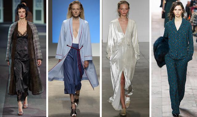pajama trend, slip dress, spring 2016 trends