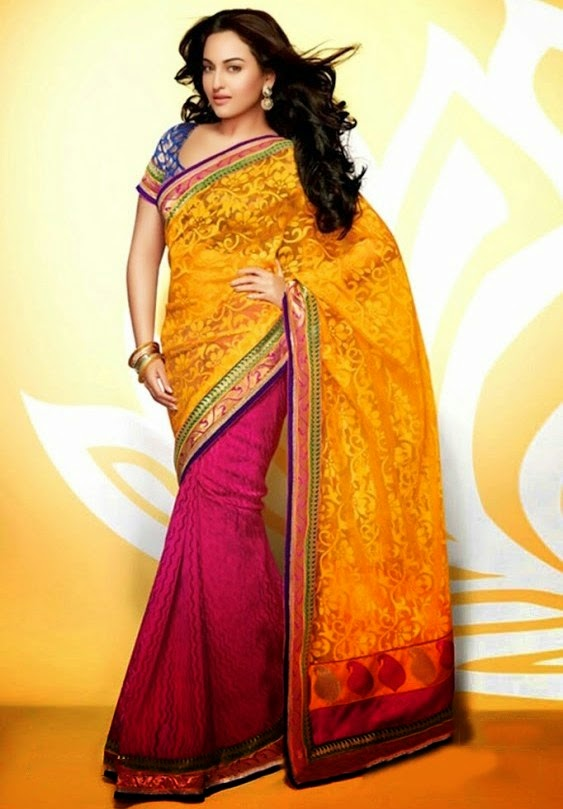 Sonakshi Sinha Photo shoot In Yellow Saree