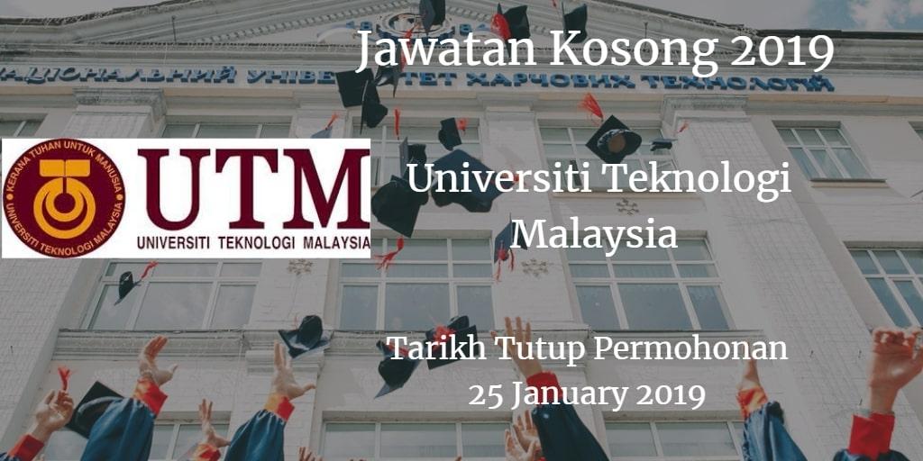 Jawatan Kosong UTM 28 January 2019