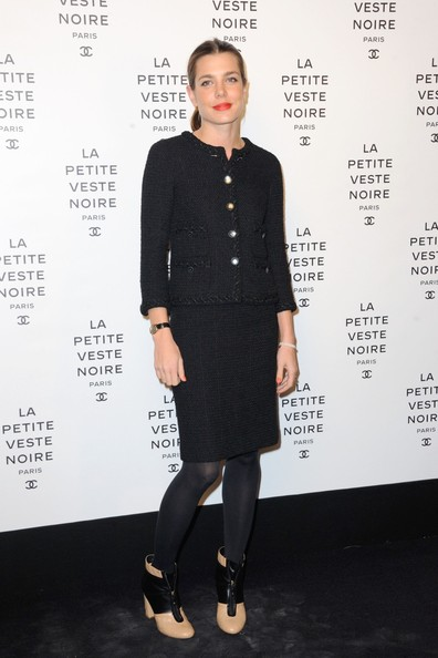 Charlotte Casiraghi attend the 'Chanel The Little Black Jacket' exhibition launch at the Grand Palais in Paris