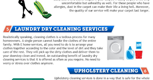 E Home Services Infographic