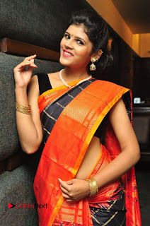 Model Sangeeta Kamath Pictures in Saree at Silk India Expo Curtain Raiser  0040.JPG