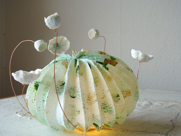 lampade di carta a led  in stile origami,  forme marine,  eco design Roma