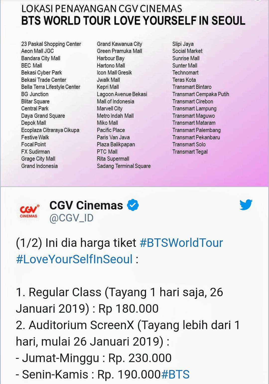 Cgv Pvj Jadwal : jadwal, GREEN, WORLD:, Nonton, Konser, Murah, Cinemaxx), SEOUL, Concert, Cinema
