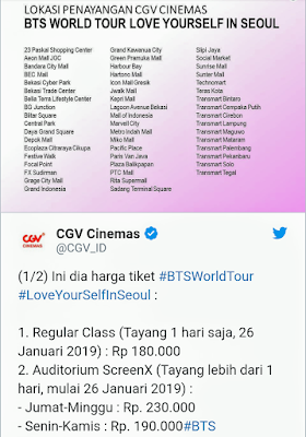 Green The World Nonton Konser Bts Murah Cgv Dan Cinemaxx Bts Love