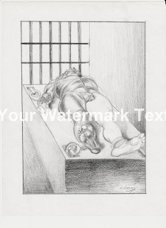 https://www.zibbet.com/prisonart/4-point-restraint-original-art-by-tommy-silverstein