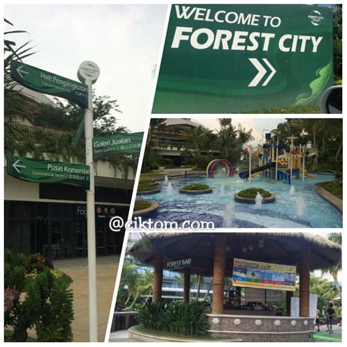 Jalan-jalan Makan Angin Di Johor Sekeluarga Forest City di Iskandar Puteri