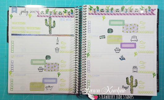 PLAN WITH ME VIDEO - JULY 117TH THRU JULY 23RD - CACTUS HUGS