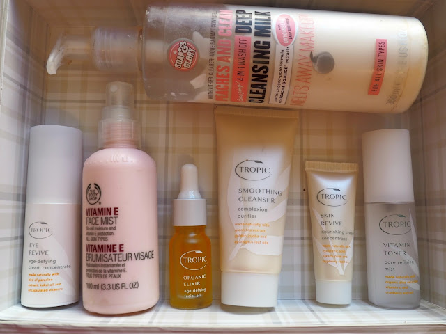 cruelty free vegan natual skincare bodyshop tropic skincare soap and glory