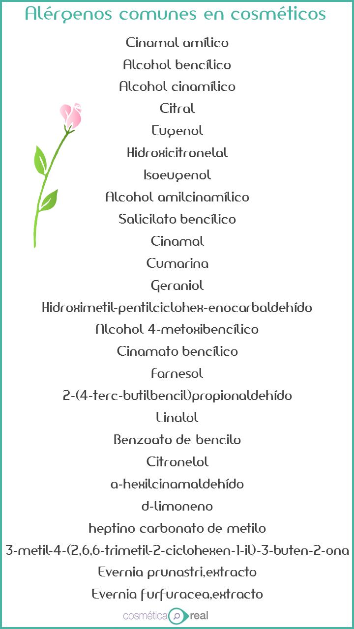 alergenos y cremas cosmeticas