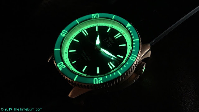 Tsao Baltimore Torsk-Diver bronze, blue dial, sapphire bezel lume