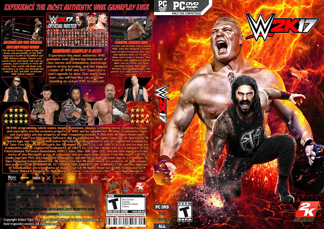 Capa WWE 2k17 PC