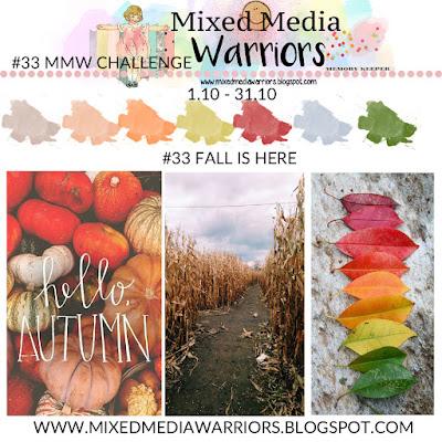 Wyzwanie kreatywne MMW #33 - Październikowy moodboard | #33 FALL IS HERE October challenge