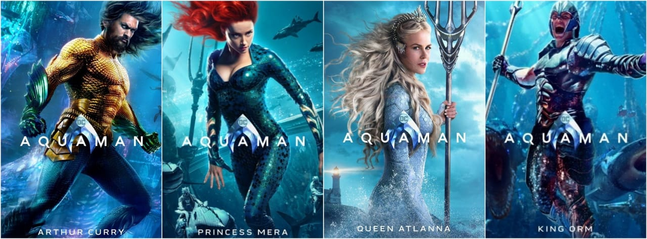 Arthur Curry, Princess Mera, Queen Atlanna, King Orm
