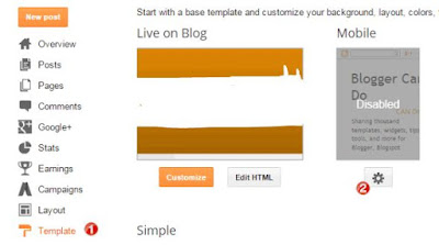 Mengaktifkan Template Blog Responsive