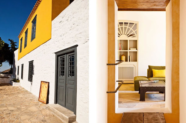 Una casa tradicional en la isla de Hydra chicanddeco