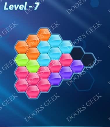 Block! Hexa Puzzle [6 Mania] Level 7 Solution, Cheats, Walkthrough for android, iphone, ipad, ipod