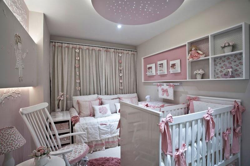 Habitaci n para beb en rosa y gris dormitorios colores for Cuarto color gris