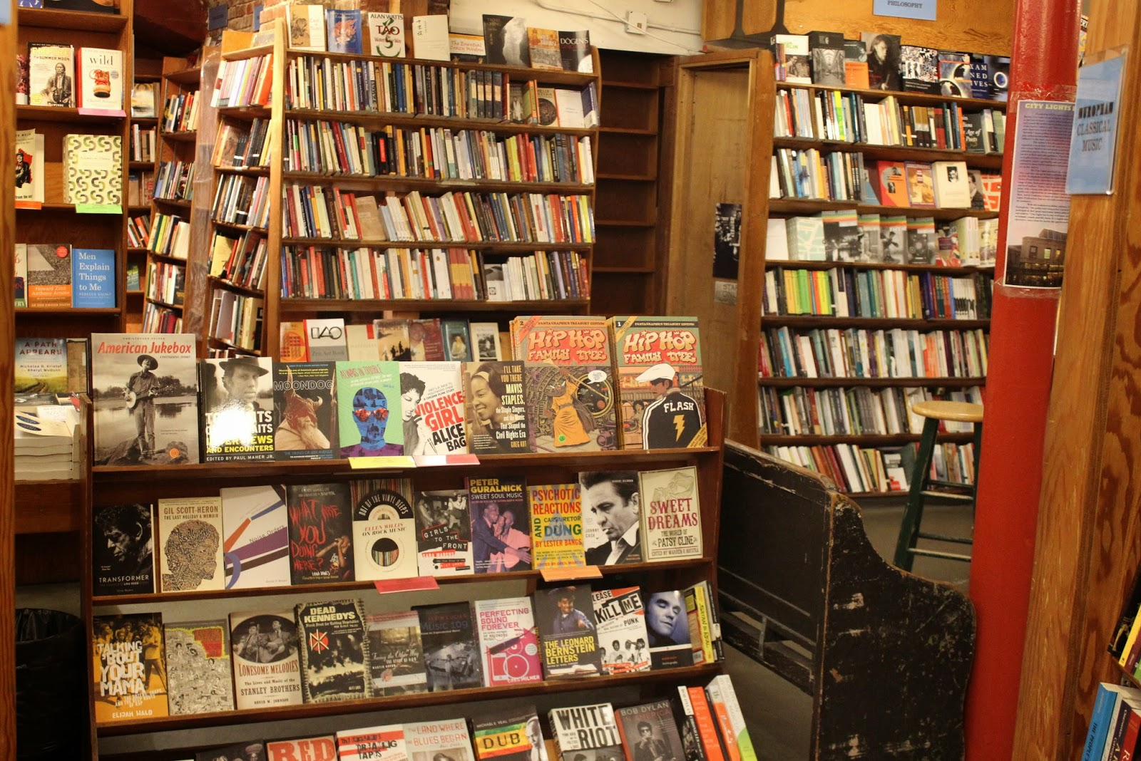 books at city lights bookstore