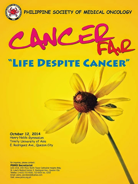 Cancer Fair 2014: life despite cancer,Philippine Society of Medical Oncology, PSMO, Henry Noble Gymnasium at the Trinity University of Asia in Quezon City on October 12, 2014
