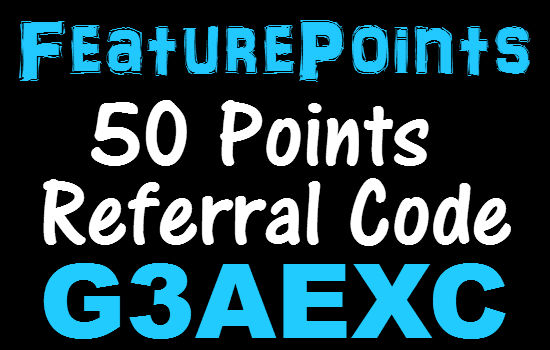FeaturePoints Referral Code 2020 (50 Points Bonus) Feature Points Promo Code March, April, May, June, July