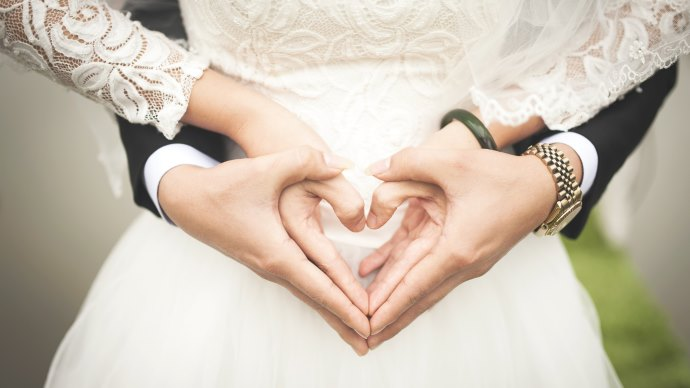 Wallpaper: Love Symbol in the Wedding Day