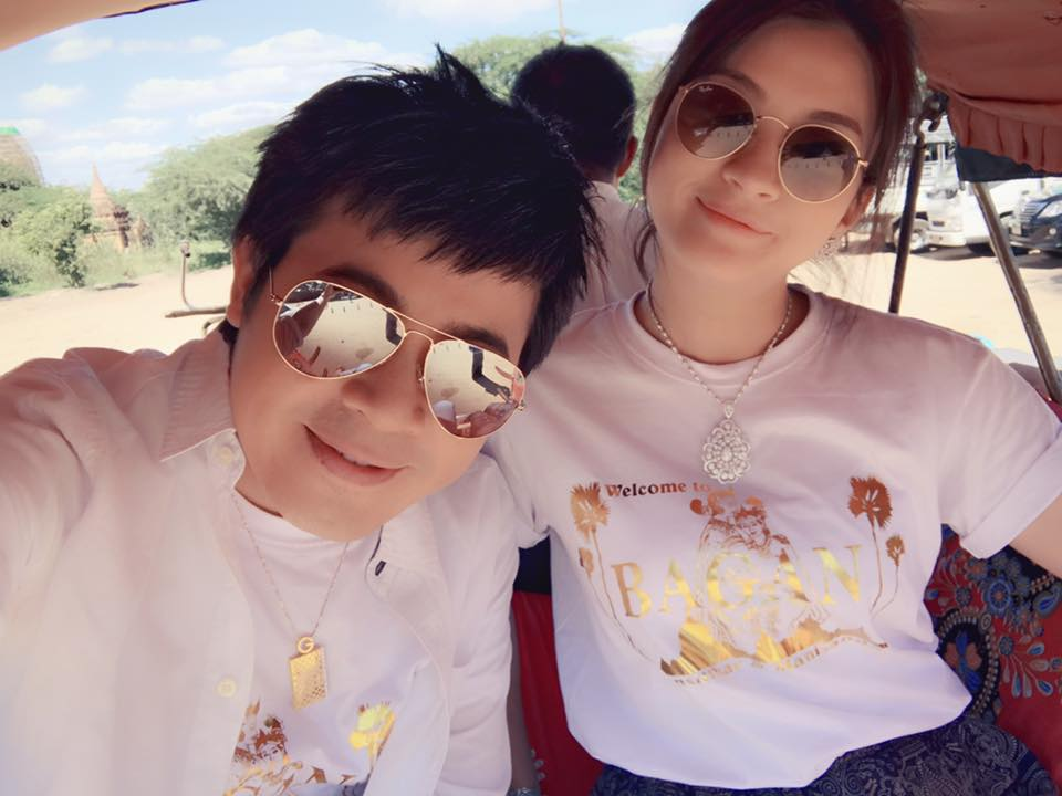 Nay Toe and Kit Kit In Bagan For Shwe Nan Daw Jewerly TVC And Its Behind The Scenes